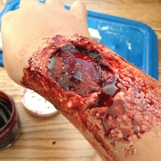 Zombie Bite Makeup Tutorial, this soooo gross but at the same its soooo awesome, Pin~