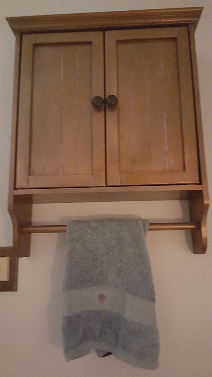 Painted old oak medicine cabinets