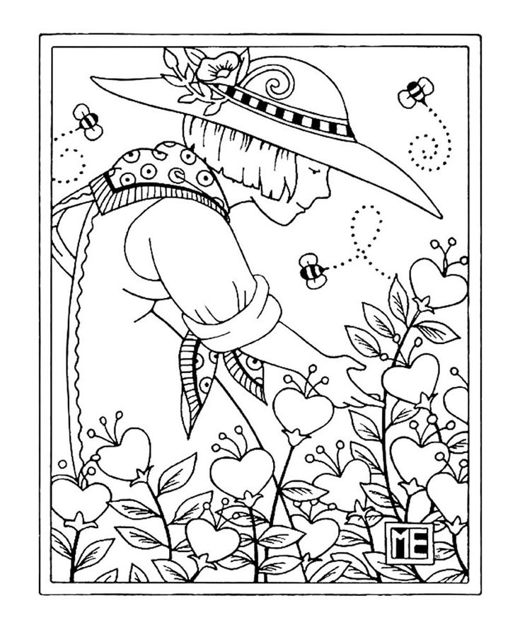 mary englebrite coloring pages - photo#1