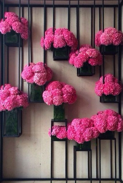 Flowers in the Mandarin Oriental Paris.