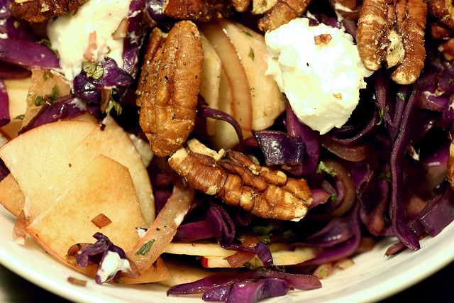 Tassajara Warm Red Cabbage Salad Recipe — Dishmaps