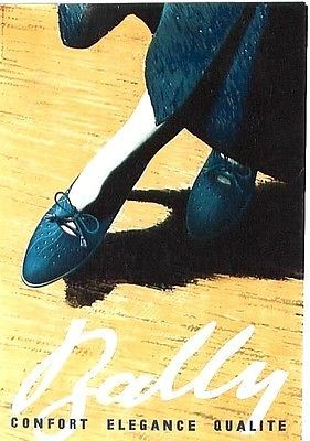 Original vintage poster BALLY SHOES ELEGANT FASHION 1936