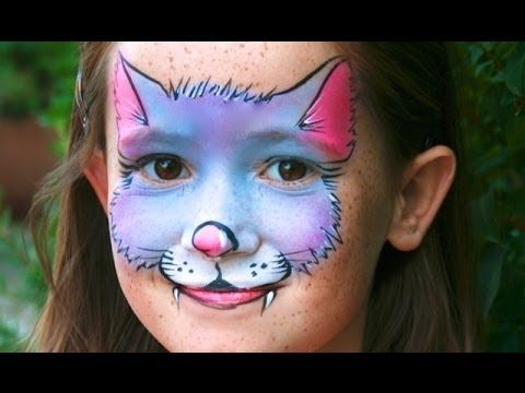 Cute Kitty Cat face painting tutorial - Easy Kitty Cat makeup - YouTube
