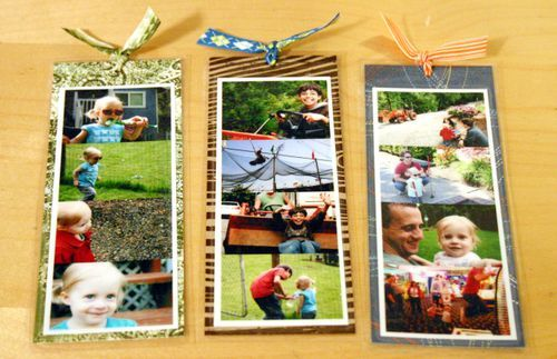photo bookmarks - great gift Mother's DayGift Mothers, Photo Books, Grandparents Day, Family Photos, Cute Ideas, Bookmarks For Grandparents, Families Photos, Families Gift, Photos Bookmarks