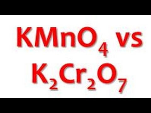KMnO4 is better Oxidant than K2Cr2O7 ! Redox Titrations! With HCl! Indic...