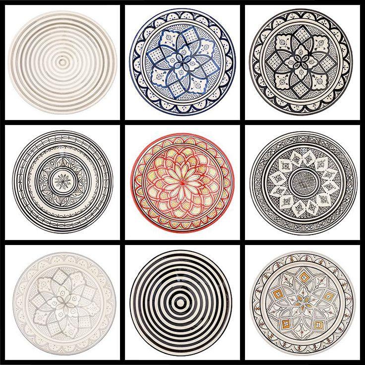 """107 gilla-markeringar, 8 kommentarer - Atlas Home (@atlashome) på Instagram: """"Vi erbjuder Nordens bredaste sortiment av marockansk keramik. Vilket fat är din favorit?…"""""""