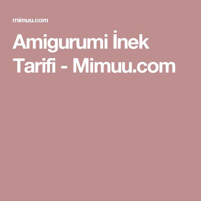 Amigurumi İnek Tarifi - Mimuu.com