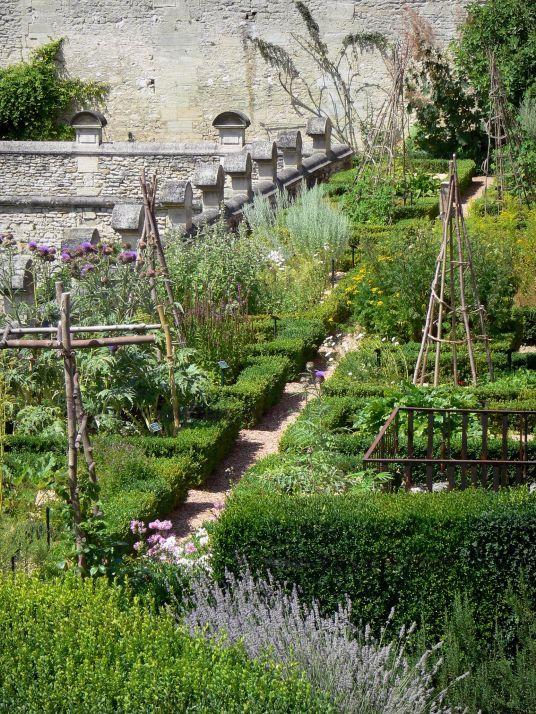 Domaine de Villarceaux : Jardin médiéval (terrasse médiévale, jardin de simples) et ses plantes médicinales