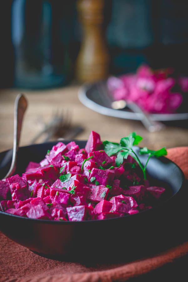 Beets with Tahini | Paleo, vegan and gluten-free on healthyseasonalrecipes.com