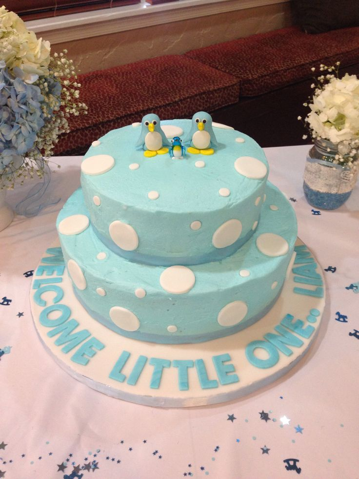 Baby Shower Cake Penguin