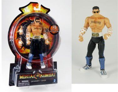 """Mortal Kombat MK9 6 inch Action Figure Johnny Cage by Jazwares. $16.00. 6 inch Figure. Collect all other Mortal Kombat figures. Made by Jazware. Keep laughing buddy, cause the jokes gonna be on YOU! Add the Mortal Kombat MK9 6"""" Johnny Cage Figure to your MK collection. Collect them all!"""