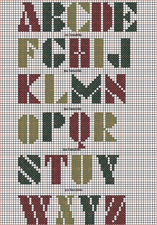 Die Besten 25 Buchstaben Sticken Kreuzstich Vorlagen