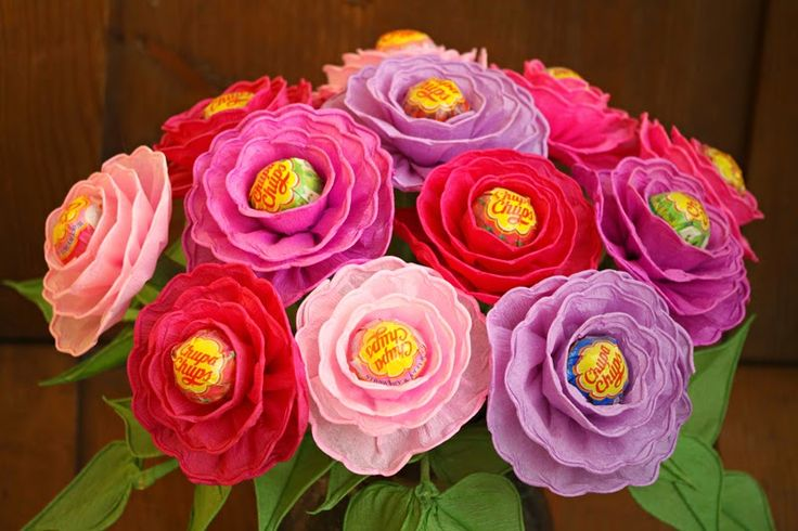 Bibułkowy ogródek Jolenty: Bukiet z Lizakami- sweet flowers with lollipop