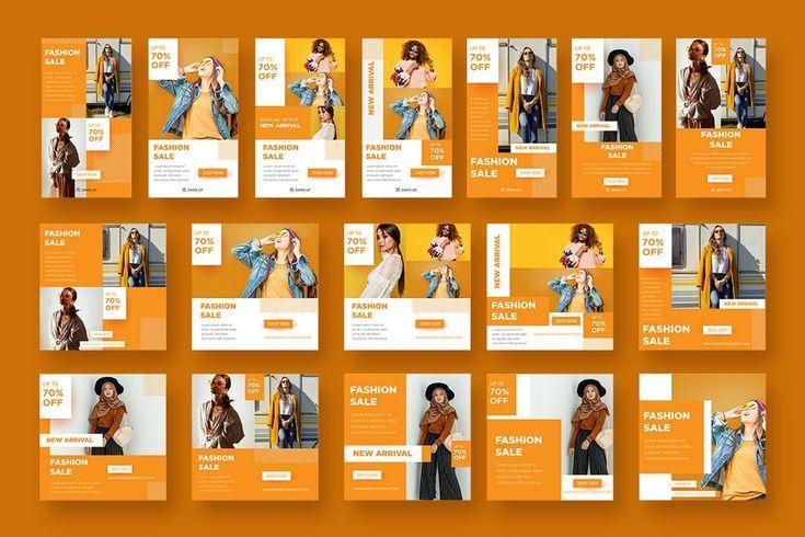 Set Social Media Post Templates Fashion Sale 359911 Websites Design Bundles In 2020 Facebook Post Design Social Media Post Post Templates