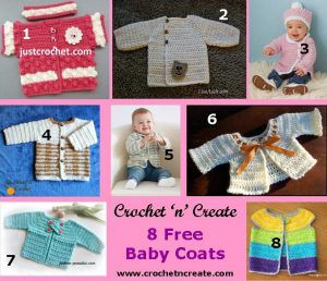 8 Free Baby Crochet Cardigan Patterns - Crochet 'n' Create