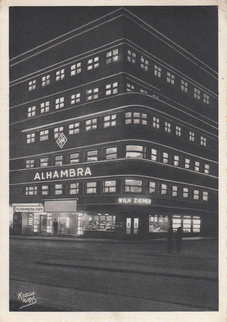 Кёнигсберг. Кинотеатр Альгамбра на углу ул. Вагнера и Штайндамма, фото ок. 1935 года