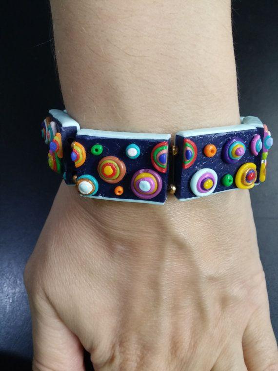 Bracelet by Polymer Clay - Handmade 100%  https://www.etsy.com/listing/490367611/bracelet-by-polymer-clay-handmade-100