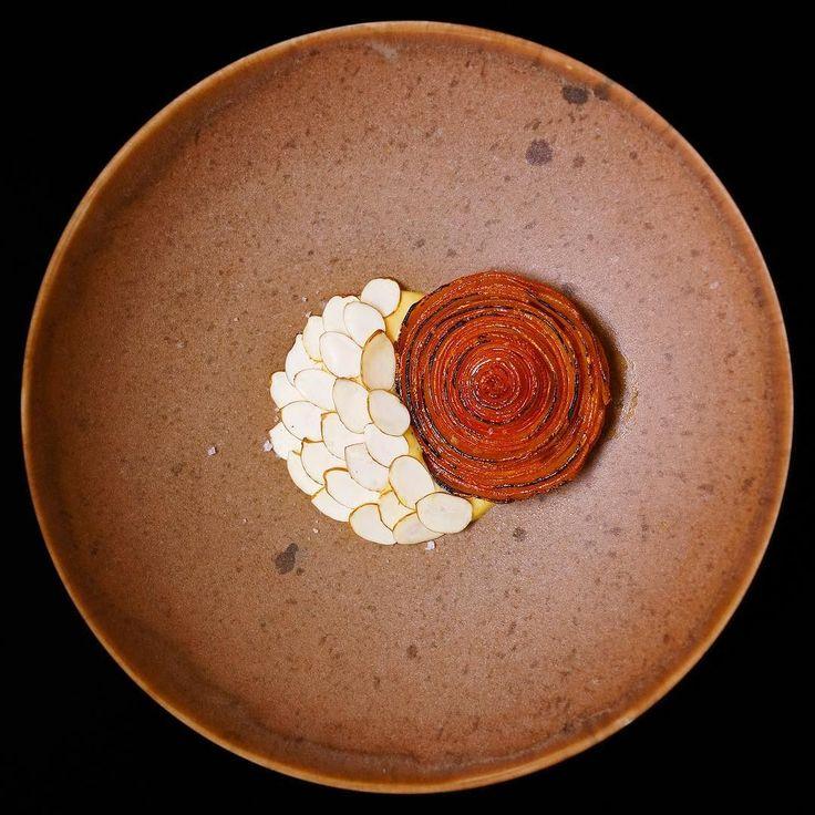 Hokkaido pumpkin sea buckthorn and fresh hazelnuts by @chrifrapug of Relæ Copenhagen. Recipe in Volume 2: Denmark (link in profile). by ambrosiamagazine