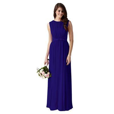 Debut Bright Blue Vintage Bow Maxi Dress At Debenhams