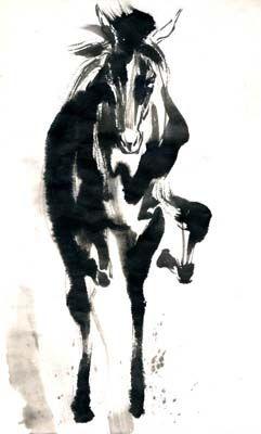 墨絵 イラスト 馬 - Google 検索