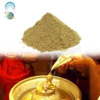 Abhishek Powder (Abhiyanga) is a holy mixture of 5 different items: Avla, Sandal, Rose water, Kesar and Barras. http://vedicvaani.com/index.php?_route_=Abhishek-Powder-Abhiyanga . This Abhiyanga powder for bathing of Ashtha dhatu, marbal, gold, silver, brass, copper etc. yantras and idols.