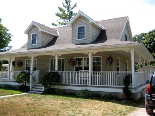 83 best house plans images on pinterest cottage for Modern homes with wrap around porches