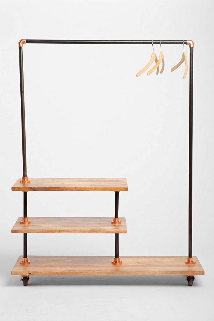 Industrial storage rack urban outfitters industrial and - Designer clothes rack ...