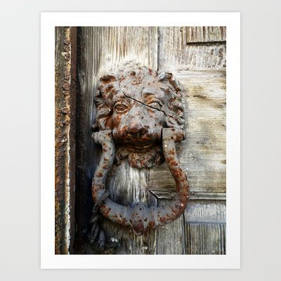 Lion in Winter Art Print by Sandra Triantafyllou - $19.99 An antiquated door-knocker in the city of Mytilini. Lesvos Greece, February 2014