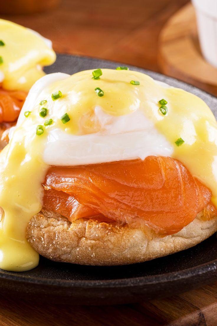 Skinny Eggs Benedict with Smoked Salmon