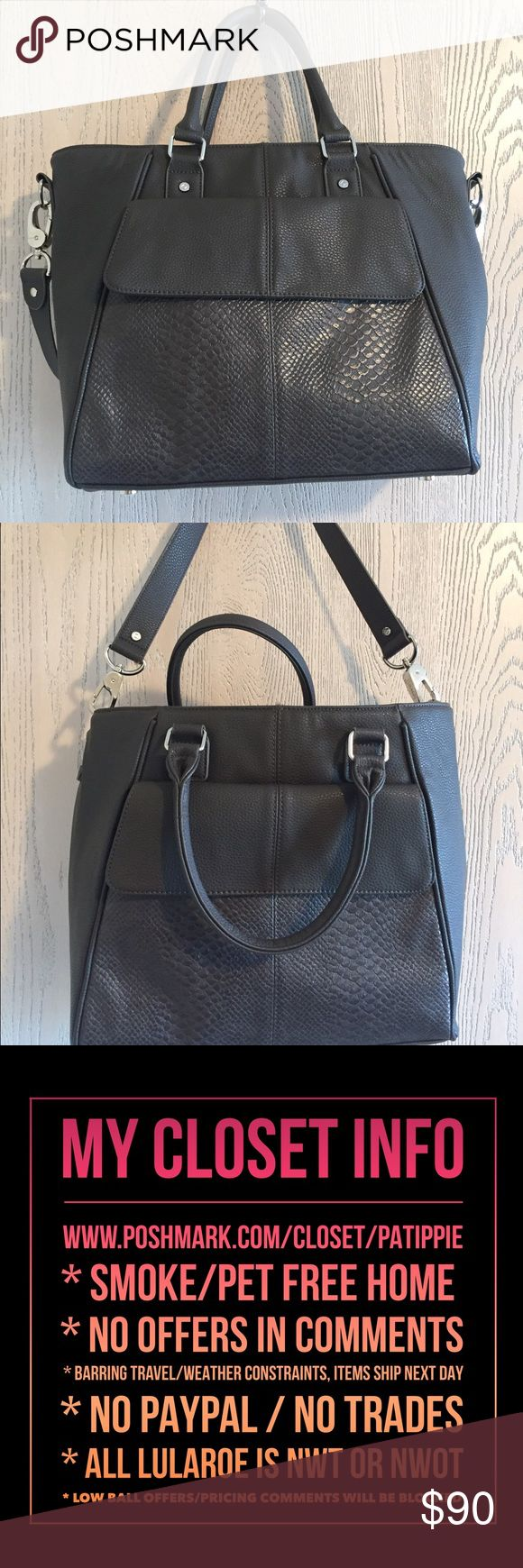Gray Diamond District Gray Diamond District.  Approx 12 x 12.25 x 4.5 with a 5.5 handle drop. 31  Bags Totes