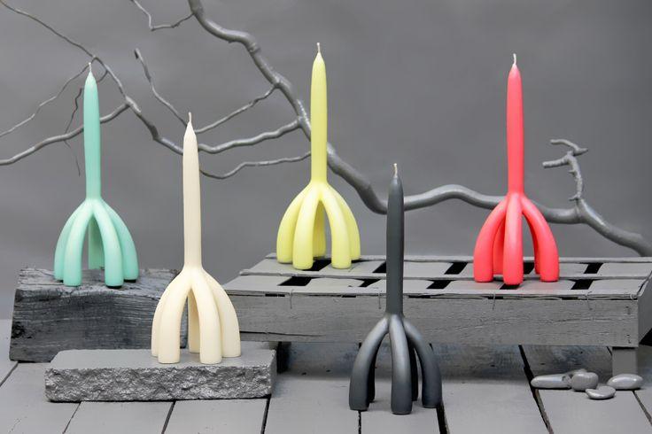Candela by Puik Art made in The Netherlands op CrowdyHouse kaars en kandelaar in een, slim idee