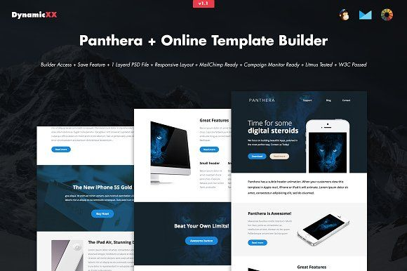 Panthera + Online Template Builder @creativework247