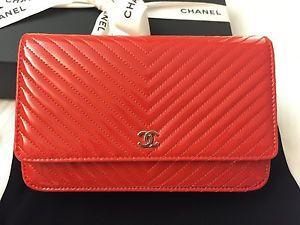 Chanel WOC 2016 chevron leather