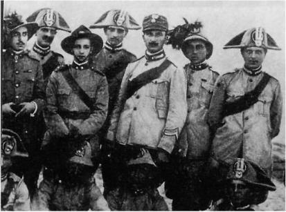 WW1. Italian Troops on the Palestine Front, Bersaglieri.