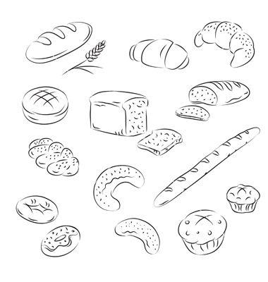 Bread on VectorStock