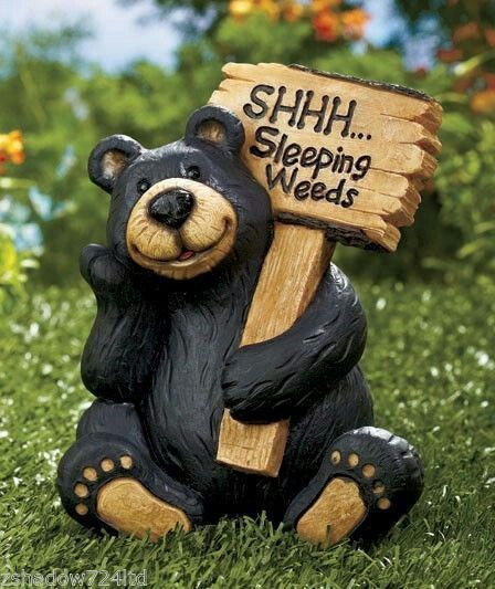 Statues Bear Camping Yard Art Garden New Patio Lawn Ornament Ceramic  Sculpture