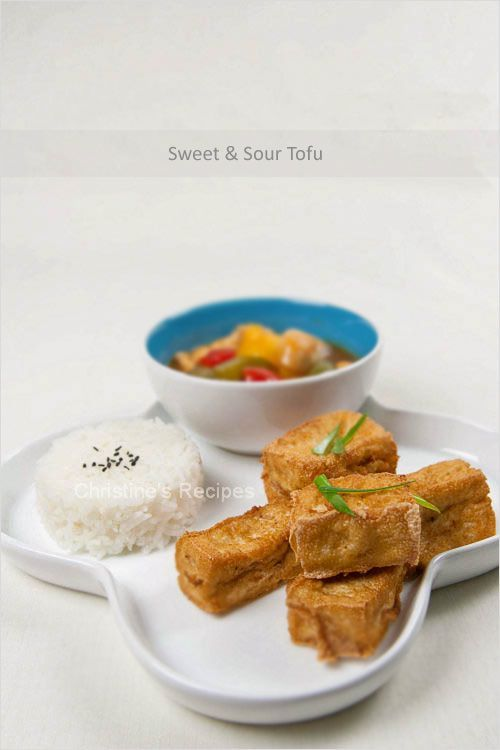 Sweet and Sour Fried Tofu - This dish goes extremely well with Jasmine rice, or served as an appetizer.