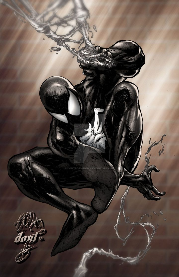 Spiderman Black Suit by DontBornInInk