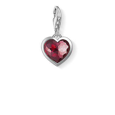 Thomas Sabo punainen sydänriipus 1305-012-10 - Thomas Sabo Charm Club -riipukset - 1305-012-10 - 1