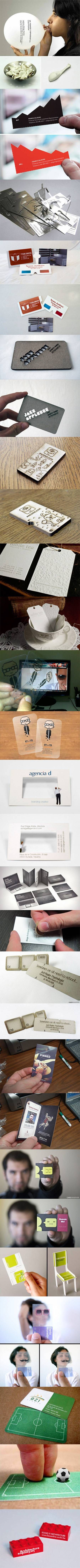 Let's face it, most business cards don't usually stick around for long, as most find their way to the trash bin or get lost in a dark corner once they're handed to someone. However, these eighteen geeky designs think outside the box in hopes that they'll be kept safe and handy.