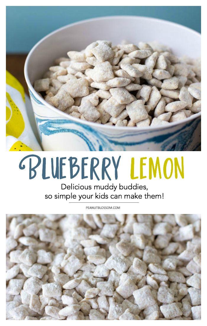 Blueberry Lemon Muddy Buddies Recipe Muddy Buddies Puppy Chow Recipes Chex Mix Recipes