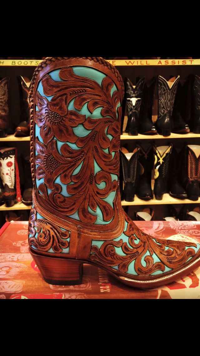 hand carved leather