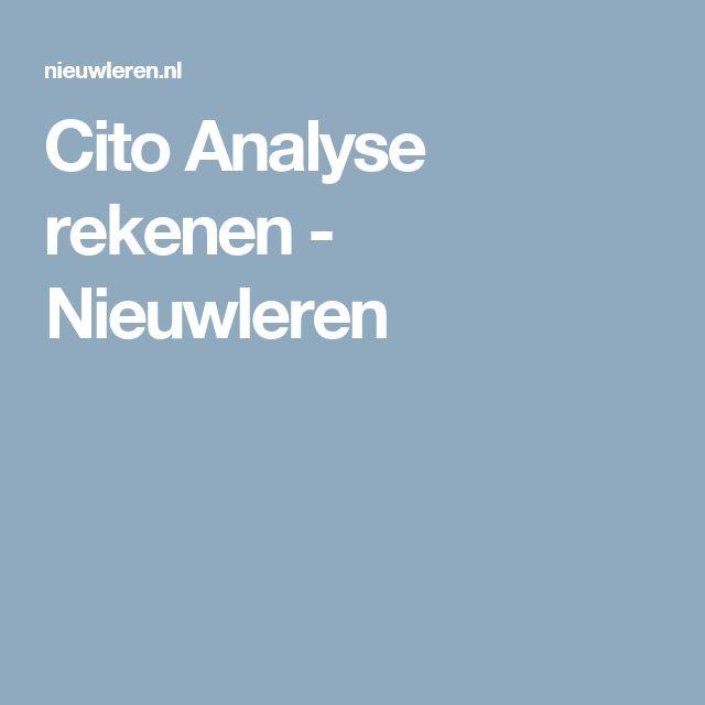 Cito Analyse rekenen - Nieuwleren