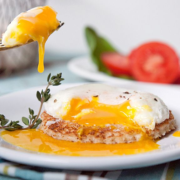 Perfectly Poached Egg with Fresh Thyme