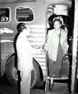 Rosa Parks:  1913–   When she refused to give up her seat to a white person on a crowded bus, Rosa Parks set in motion the Montgomery Bus Boycott, a cornerstone of the civil rights movement. She has since been a strong advocate for human rights issues.   http://teacher.scholastic.com/rosa/rosa.htm