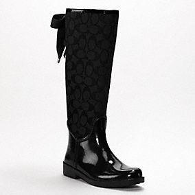 Black Coach rainboots     cute:)