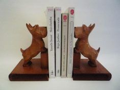 Pair of Vintage Westie Bookends