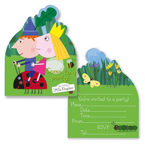 Ben & Holly Invitation Cards | Card party, Party bags and ...