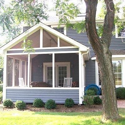 54 best images about screened in porches on pinterest for Gable screened porch