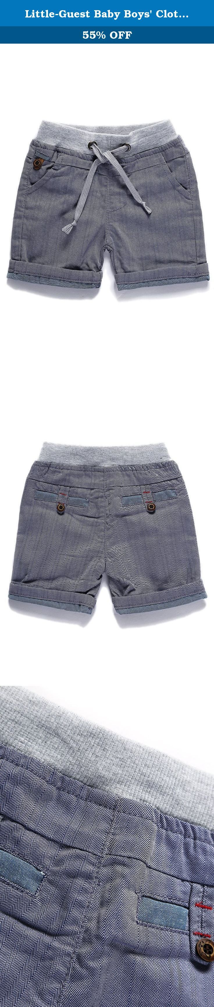 """Little-Guest Baby Boys' Clothes Casual Knee-Length Shorts B218 (24-30 Months, Dark Grey). Pay attention to our Size Chart: 6-9 Months WAIST:45cm/17.7"""" HIP:54cm/21.1"""" BOTTOM:24cm/9.4"""" BODY LENGTH:28cm/11.0"""" 9-12 Months WAIST:47cm/18.5"""" HIP:56cm/21.8"""" BOTTOM:25cm/9.8"""" BODY LENGTH:29.5cm/11.6"""" 12-18 Months WAIST:49cm/19.3"""" HIP:58cm/22.8"""" BOTTOM:26cm/10.2"""" BODY LENGTH:31cm/12.2"""" 18-24 Months WAIST:51cm/20.1"""" HIP:60cm/23.4"""" BOTTOM:27cm/10.5"""" BODY LENGTH:32.5cm/12.8"""" 24-30 Months…"""